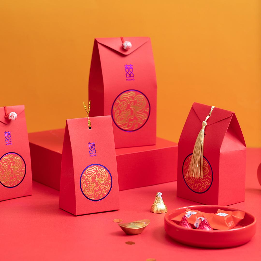 中式鸾凤和鸣喜糖盒