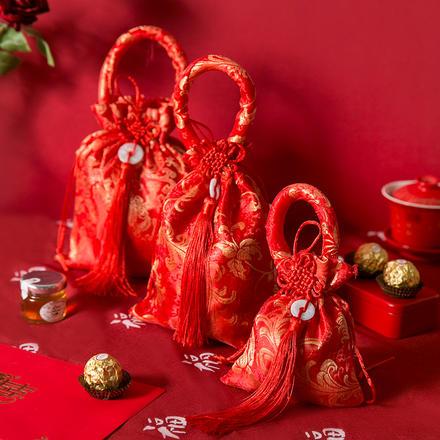 中国结织锦喜糖袋