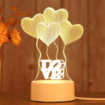 3D立體小夜燈愛心小熊/告白氣球