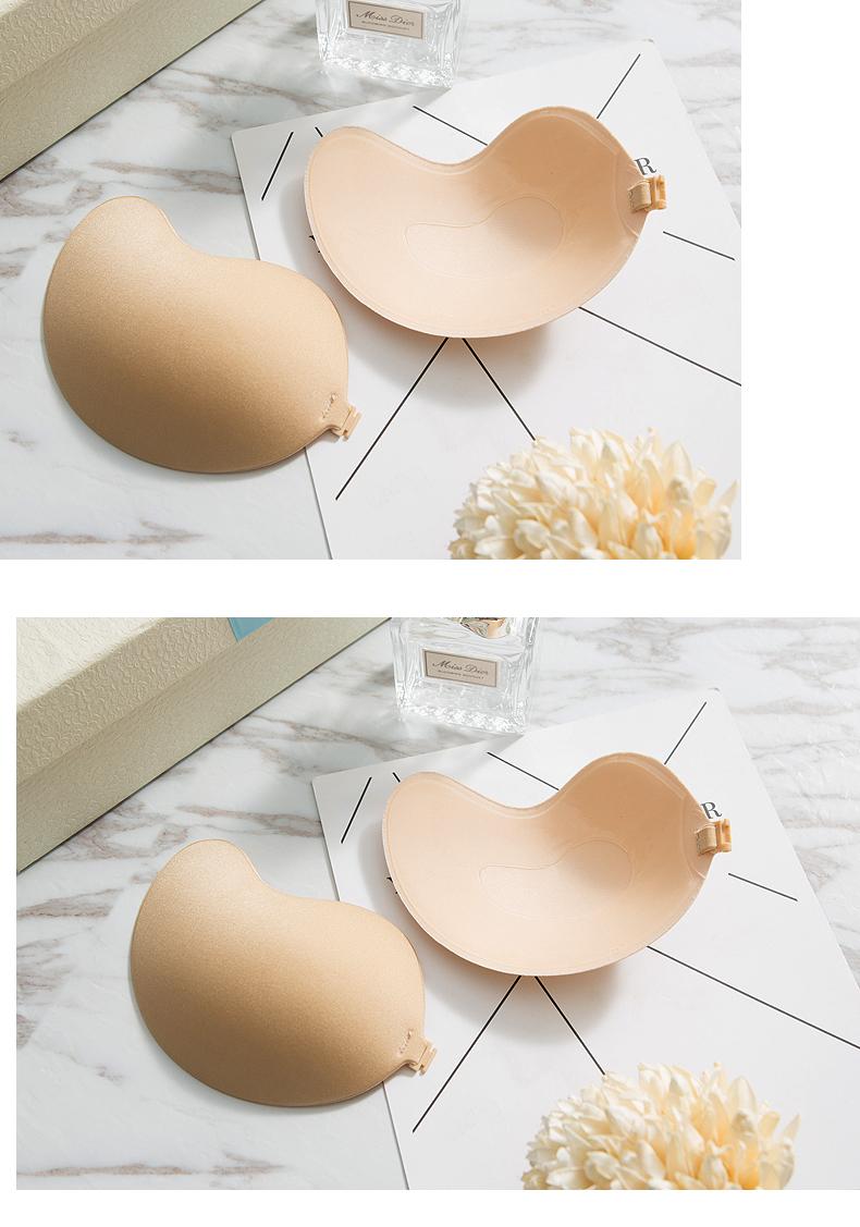 精致性感芒果型硅胶隐形内衣防滑聚拢胸贴