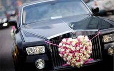 心形婚车鲜花图片及制作技巧
