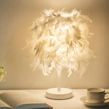 婚房创意欧式时尚羽毛落地台灯