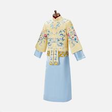 张伦硕同款新郎中式礼服