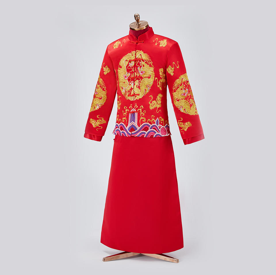 盘龙波浪中式礼服