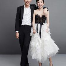 超甜!张若昀唐艺昕婚纱照曝光 明星们的婚纱照都长啥样?