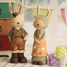情侣复古兔子存钱罐家居摆件