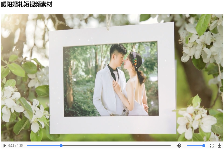 草地婚礼短视频怎么制作