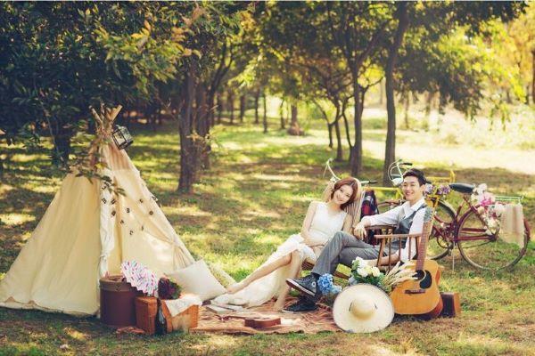 去韩国拍结婚照