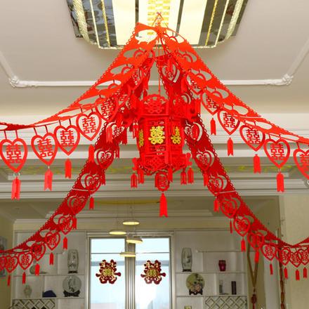 中式无纺布拉花吊坠套装