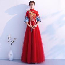 新中式凤凰绣花孕妇款敬酒服