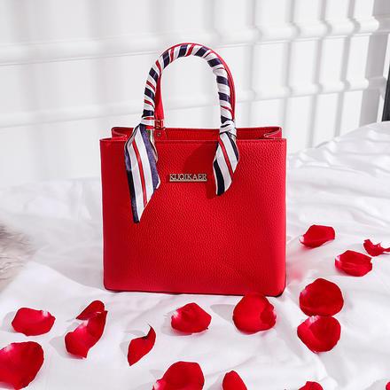 丝巾装饰经典款大容量新娘婚包