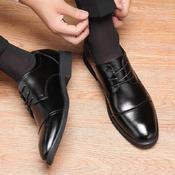 商务正装皮低帮皮鞋内增高6cm男士婚鞋