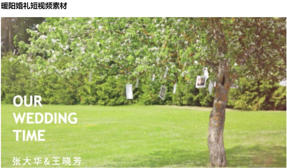 森系婚礼开场mv制作步骤