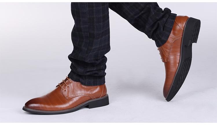 秋季新款正装男士商务皮鞋