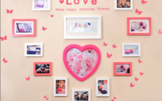 婚房照片墙布置图片  婚房照片墙怎么布置