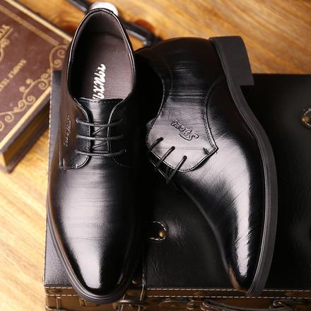 内增高6cm英伦尖头新郎婚鞋皮鞋