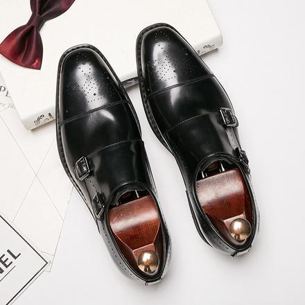 英伦商务布洛克真皮男士皮鞋新郎婚鞋
