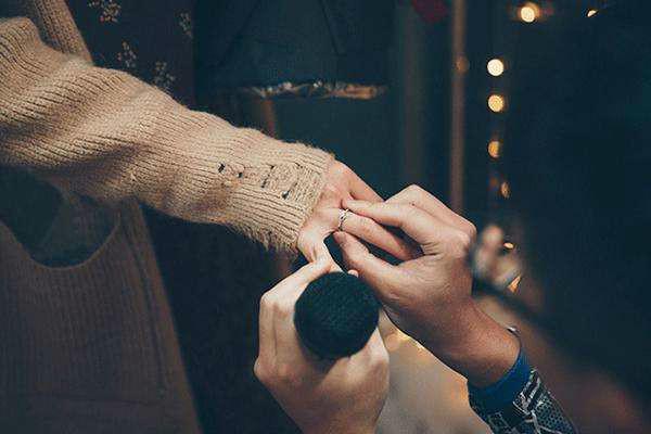 求婚戴戒指