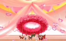婚房布置效果图纱幔欣赏  如何用纱幔布置婚房