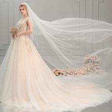 法式婚纱2019新款小个子拖尾新娘礼服女星空奢华重工显瘦森系