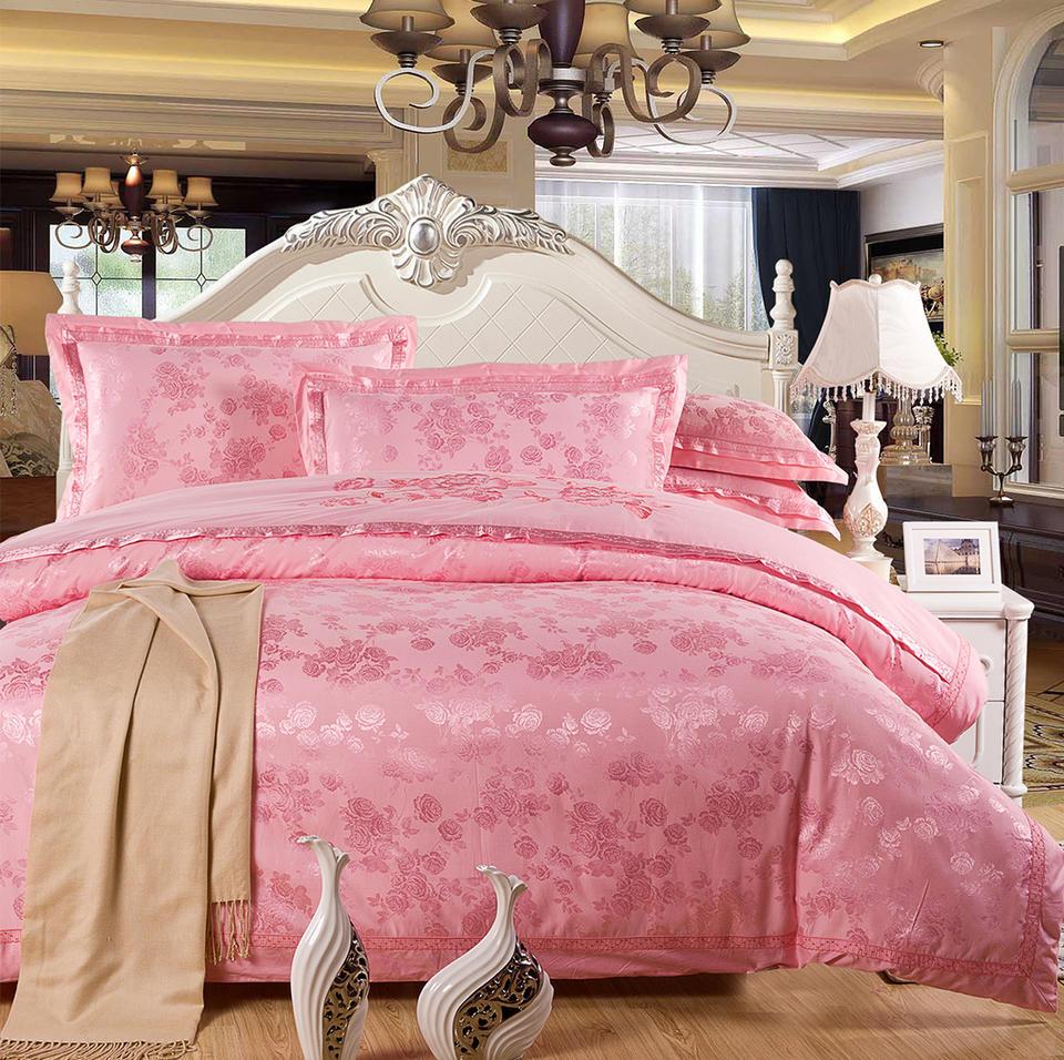 亮丽玫瑰粉色四件套