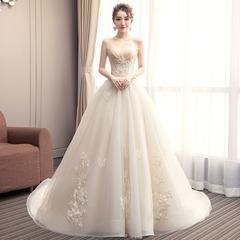 爱在巴黎•法式抹胸显瘦轻婚纱•送三件套