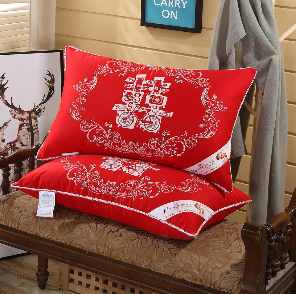 【一对装】结婚婚庆大红复古枕芯
