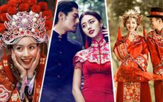 中式婚纱照图片大全 中式婚纱照一定要穿红色吗