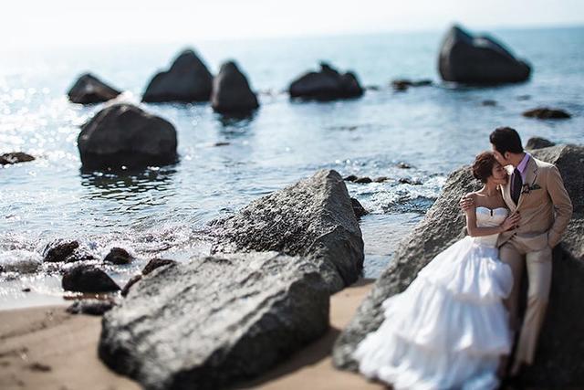 秋季外景婚纱照