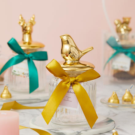 北欧精灵玻璃鎏金喜糖盒