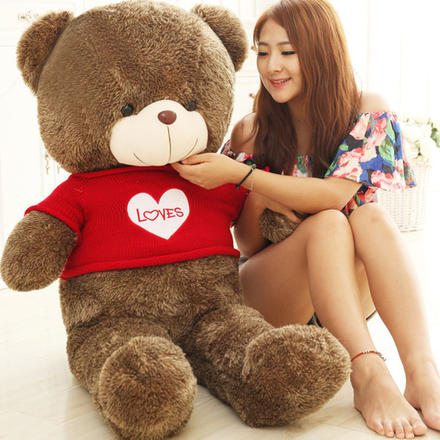 可爱毛衣抱抱熊泰迪熊结婚礼物