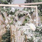 户外婚礼外景怎样布置好看