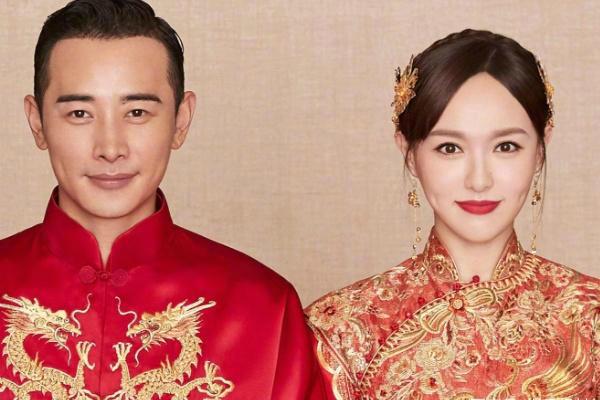 唐嫣中式婚纱礼服