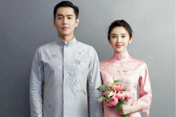 唐艺昕中式婚纱礼服