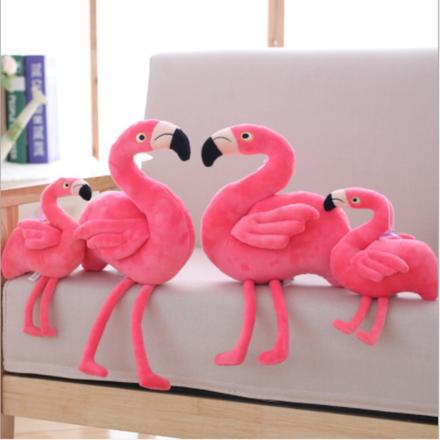 【一对】ins婚庆粉色少女心火烈鸟公仔结婚摆件压床娃娃