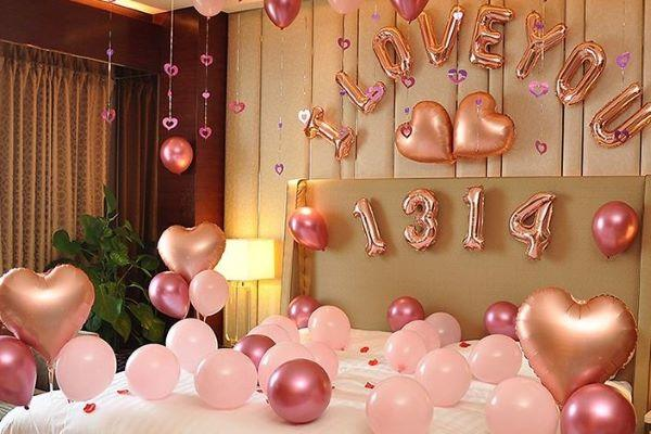 结婚新房气球布置