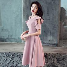 纯色温柔气质平时可穿简约大方伴娘服