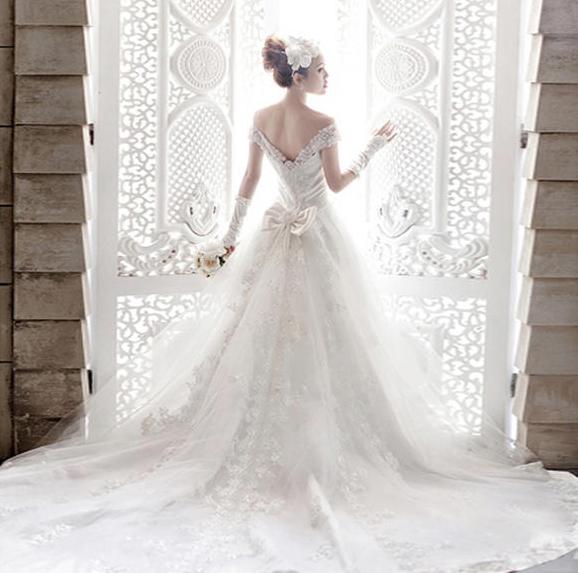 /新娘背影照