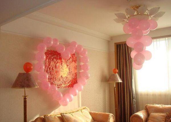 婚房气球布置