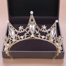 欧美风婚礼水晶珍珠大巴洛克新娘皇冠
