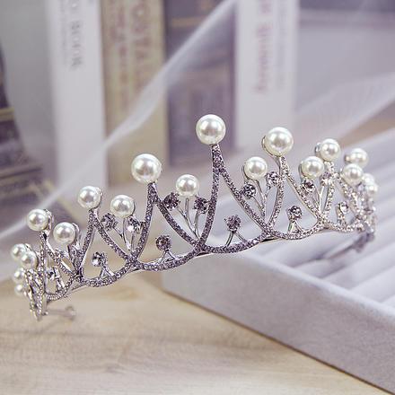 【2月2日陆续发货】韩式小清新珍珠水钻新娘皇冠