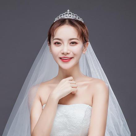 新款欧美白色水钻巴洛克新娘皇冠头饰