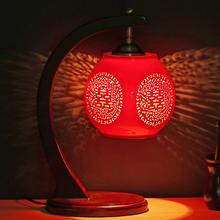 中式红陶瓷婚房台灯