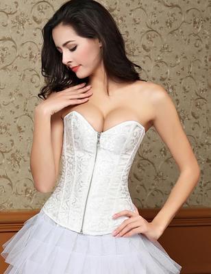 【2月2日陆续发货】暗花拉链无肩带收腹托胸宫廷婚纱塑身衣