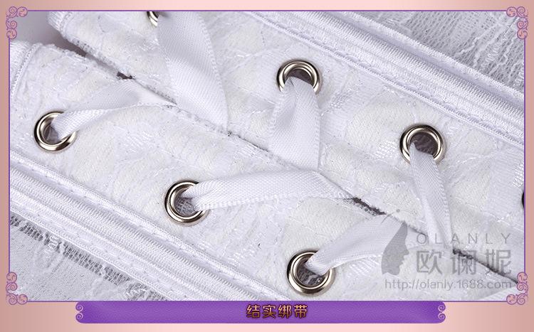 一秒束腰薄款透气蕾丝鱼骨婚纱内搭收腰束腰带
