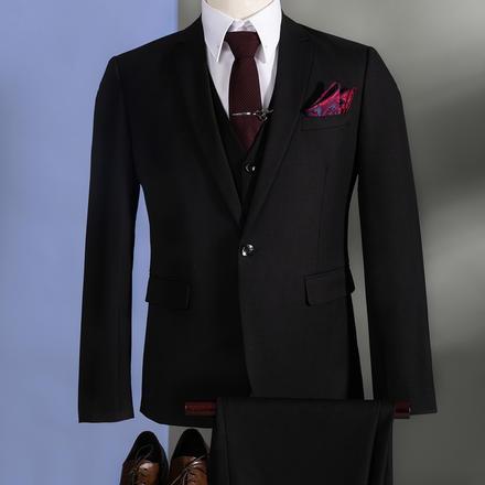 【送衬衫领结领带】男士韩风经典结婚西服套装