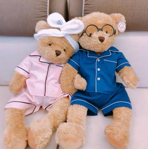 /泰迪熊压床娃娃