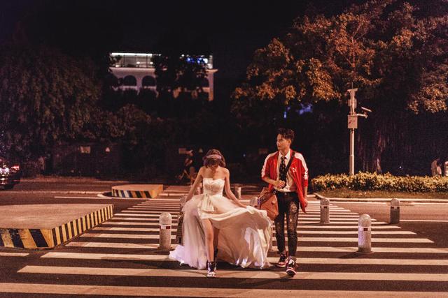环岛路拍婚纱照