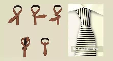 四手结领带打法图解