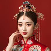 《凤冠霞帔》中式新娘秀禾头饰套装